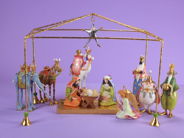 Patience Brewster H7 Christmas Holiday 13-pc Mini Nativity