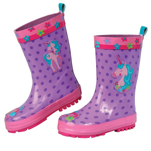 Stephen Joseph E7 Baby Toddler Girl Rubber Rain Boots Unicorn Sj-8801-21