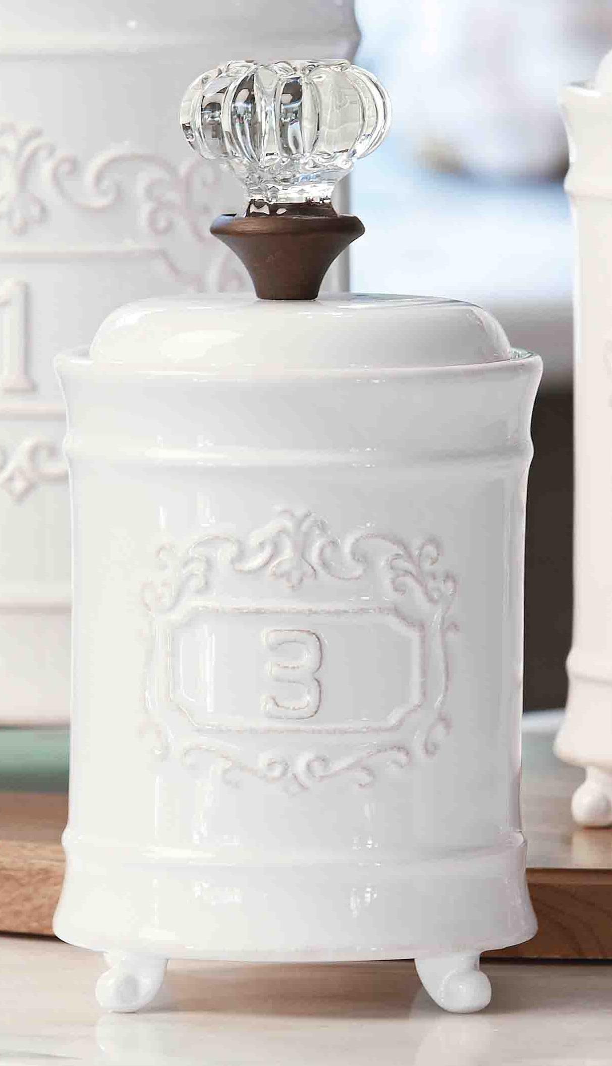 Mud Pie Kitchen Door Knob Ceramic Small Canister