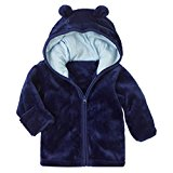 MIOIM Infant Baby Boys Girls Adorable Coral Fleece Ears Hat Hooded Jacket Coat