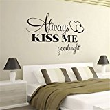 TIFENNY Hot Fashion Romantic Letter Removable Quote Decal Wall Sticker