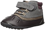 Carter's Every Step Boys' Cater's Every Step Stage 3 Walk, Jonah-WB Fashion Boot, Grey/Dark Brown, 5.5 M US (12-18 Months)