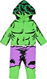 Marvel Avengers The Hulk Baby Boys' Zip-Up Hooded Costume Coverall (18 Months)