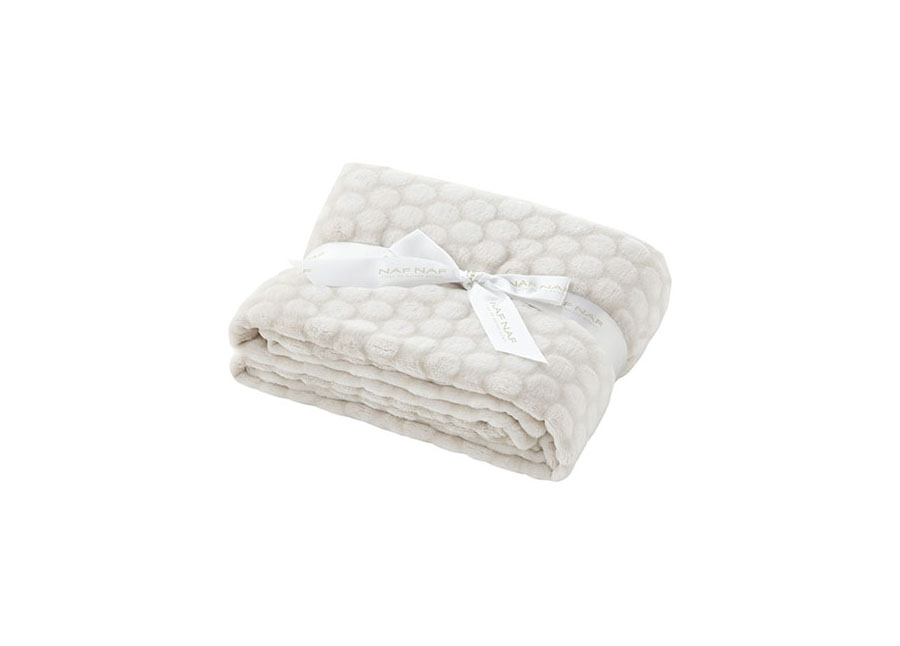 Couverture Nube 100% Polyester Beige 80*110 cm
