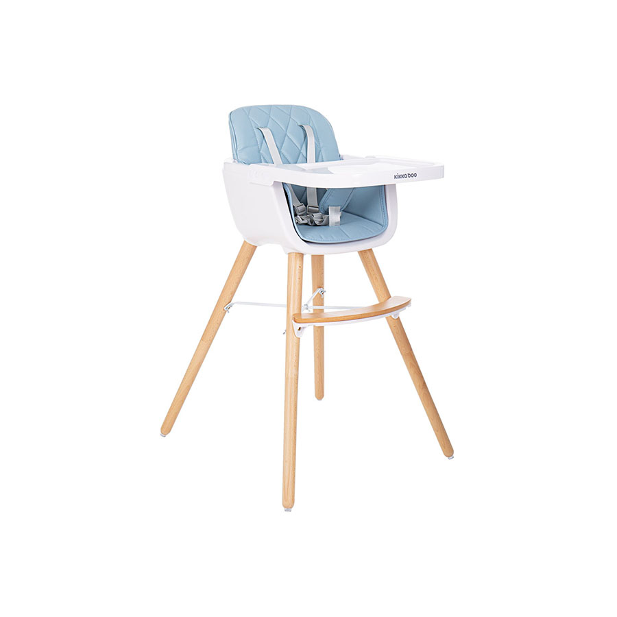 Chaise Haute Woody Bleu