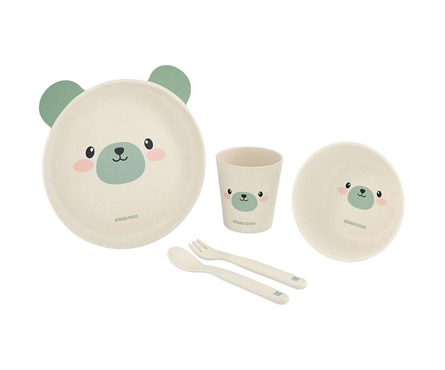 Service de table en bambou Bear Mint