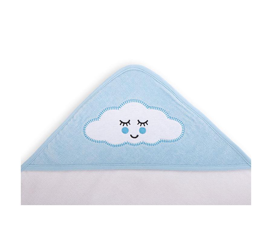 Sortie de bain velours 80/80 cm Sleepy Cloud Bleu