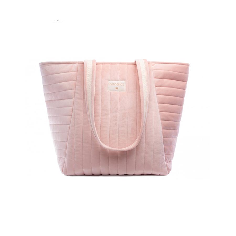 Sac à langer savanna velour bloom pink