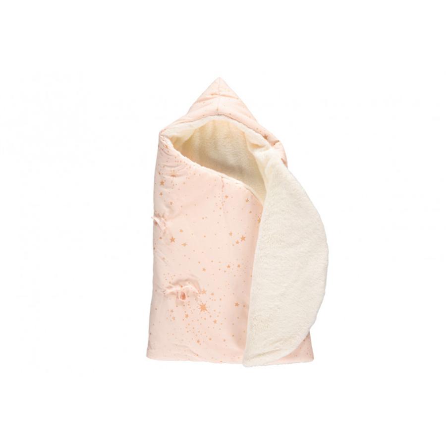 Nid d'ange d'hiver cozy 0-3m – gold stella dream pink