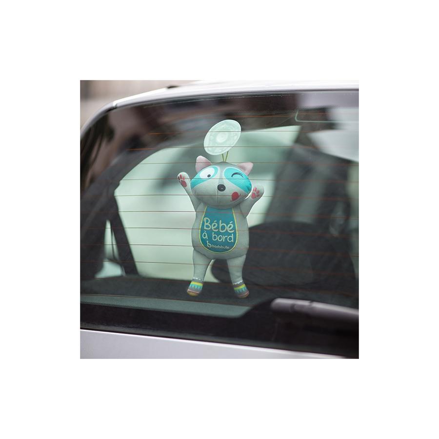 Bébé à bord phosphorescent Racoon