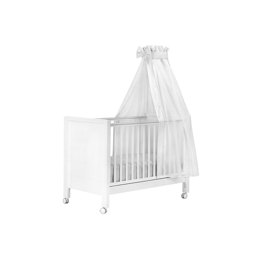 Ciel de lit l une 160×270 cm voile blanc