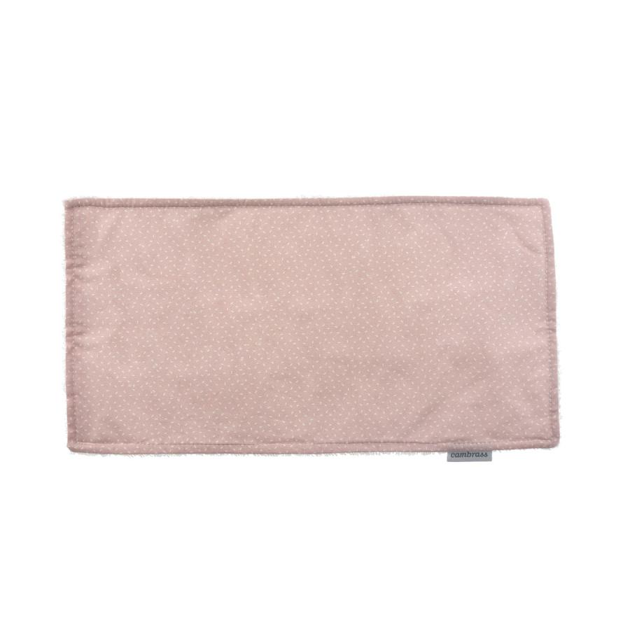 Petite serviette / bavette sky rose/pluie 29.5×15.5 cm