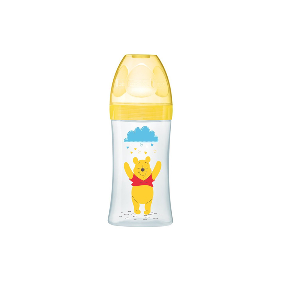 Winnie biberon sensation+ jaune 270ml