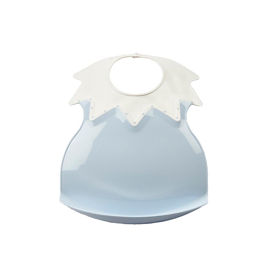 Bavoir arlequin fleur bleue