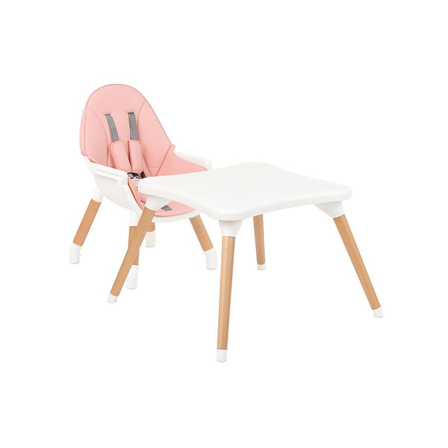 Chaise haute en bois Multi 3in1 Rose