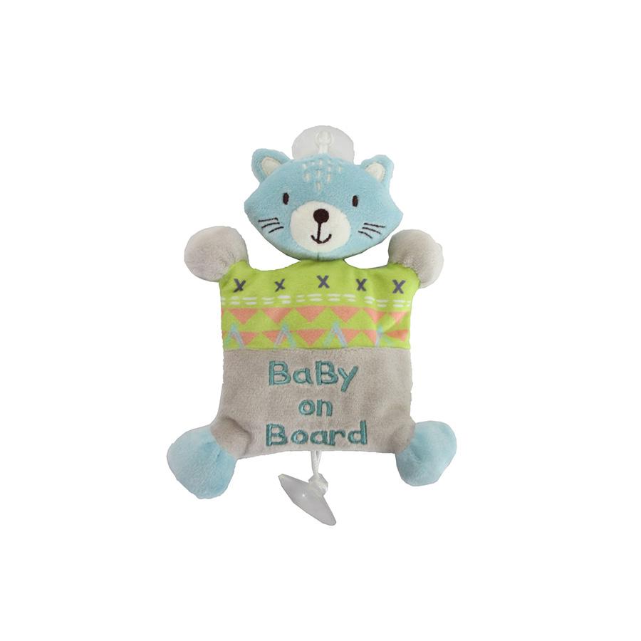 Peluche chat «Bébé à bord»
