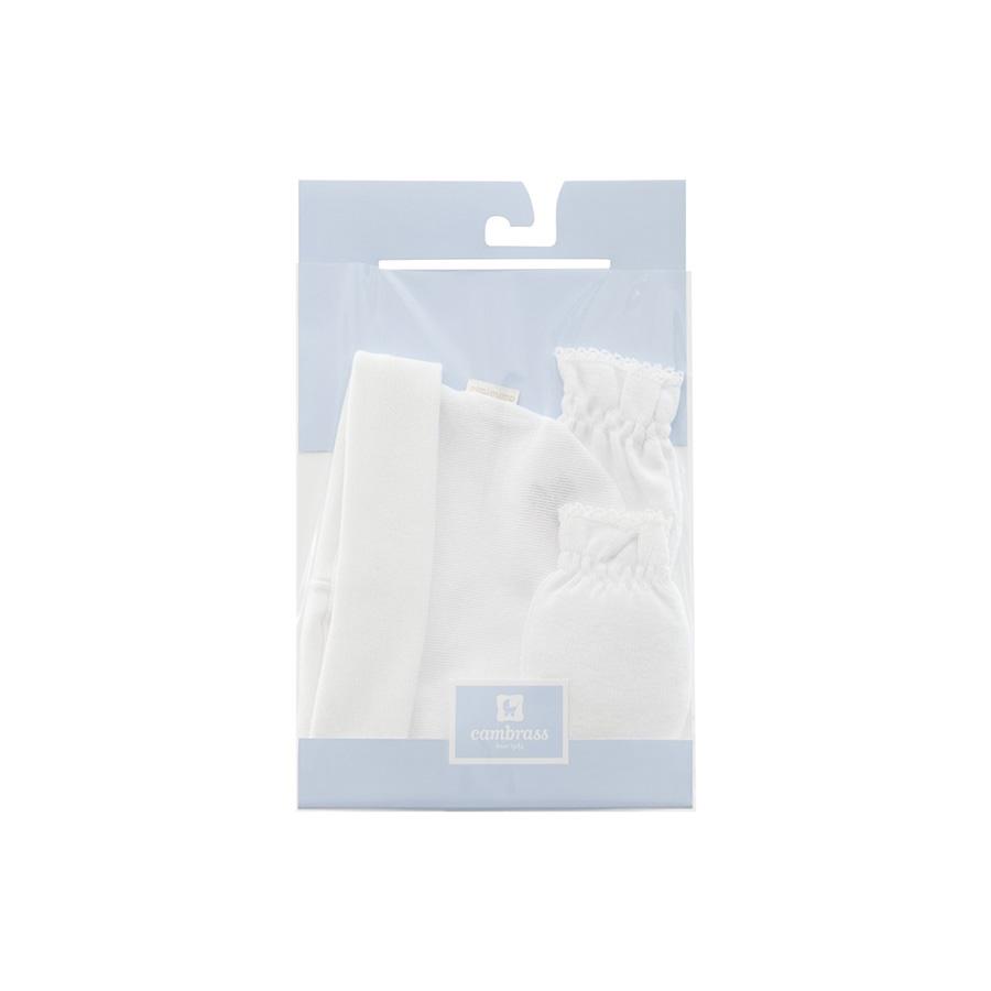 Bonnet et Mouffles Liso Blanc