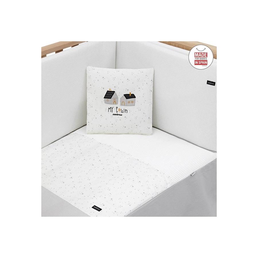 Ensemble de 2 pièces couvre-lit avec lit 60 Gris Ciel 60X120X3 cm