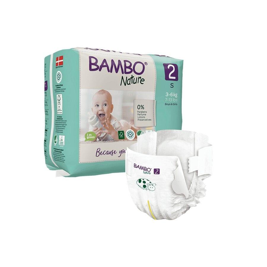 Couche Bambo Nature 3-6 Kg Taille 2 – 30 unités