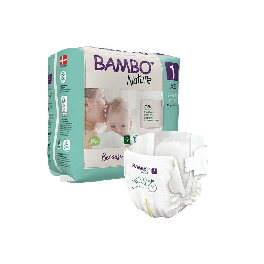 Couche Bambo Nature  2-4 Kg Taille 1 – 22 unités