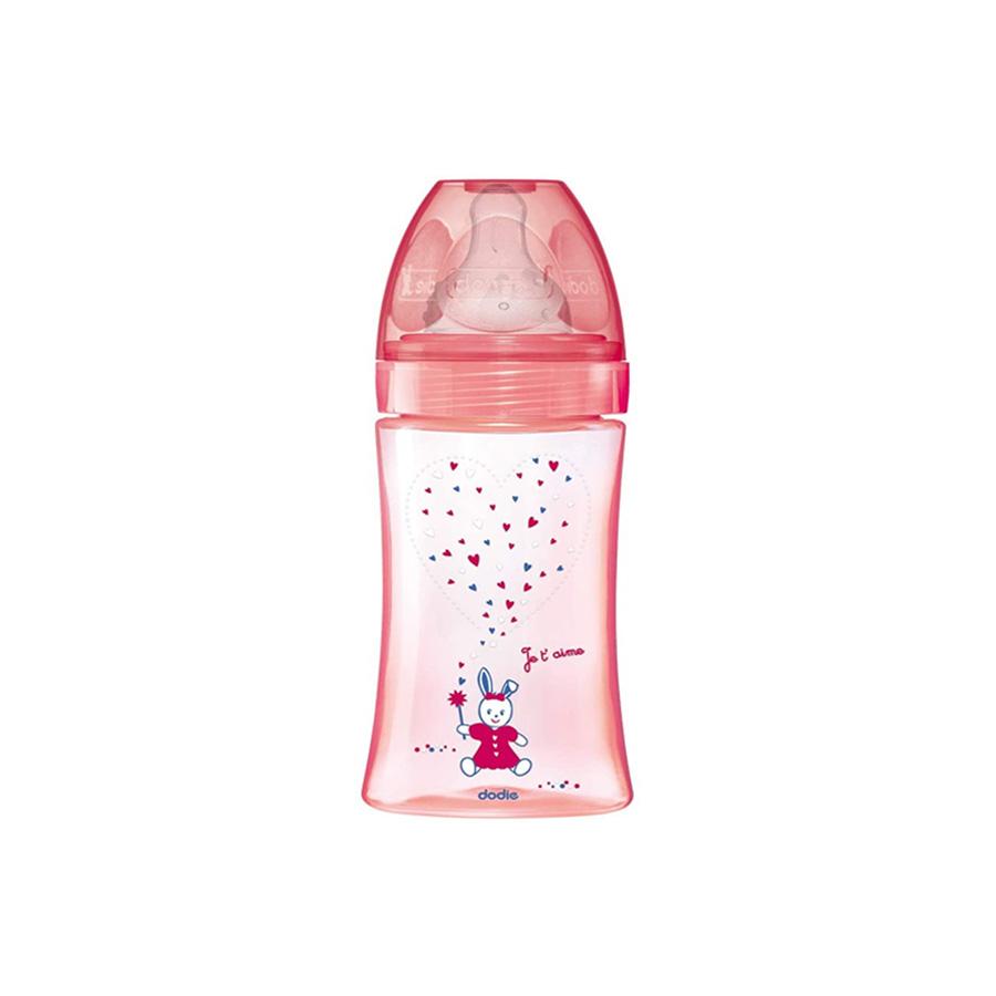 Dodie – Biberon anti-colique – (0-6mois) – Débit 2 – Rouge