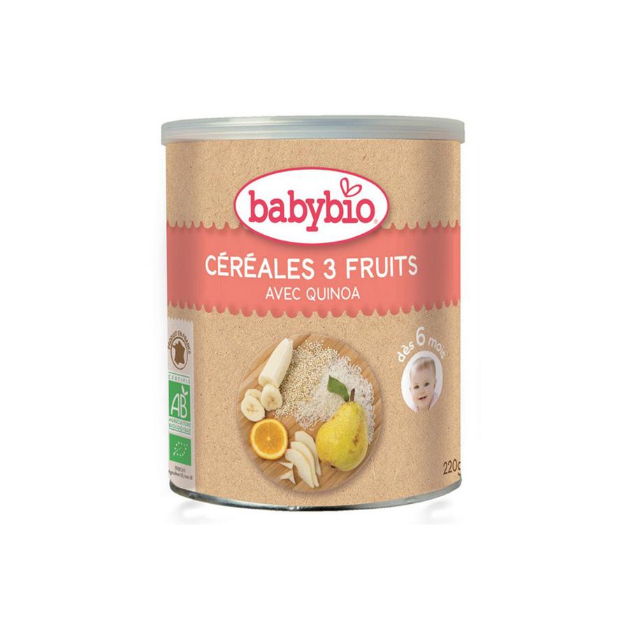 Babybio – Céréales 3 Fruits 220G