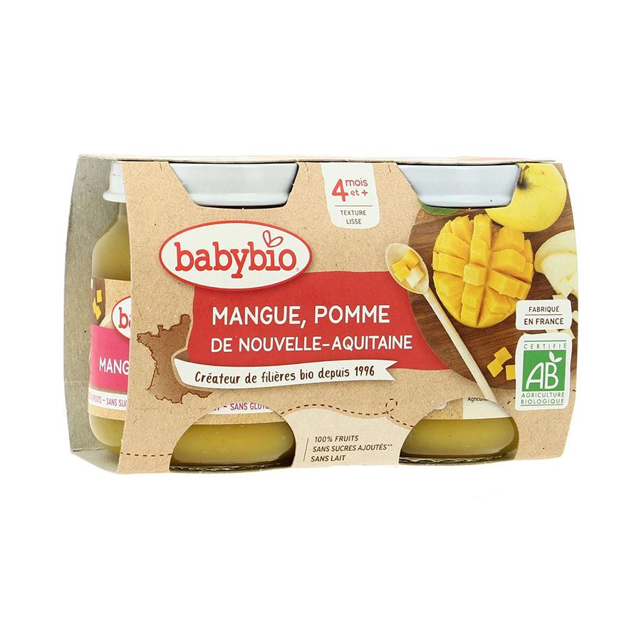 Babybio – Pot mangue pomme 2*130gr