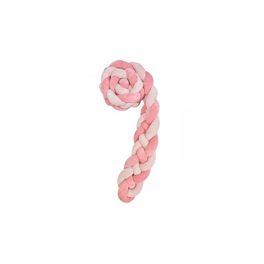 Tour de cou tressé 180 cm Rose