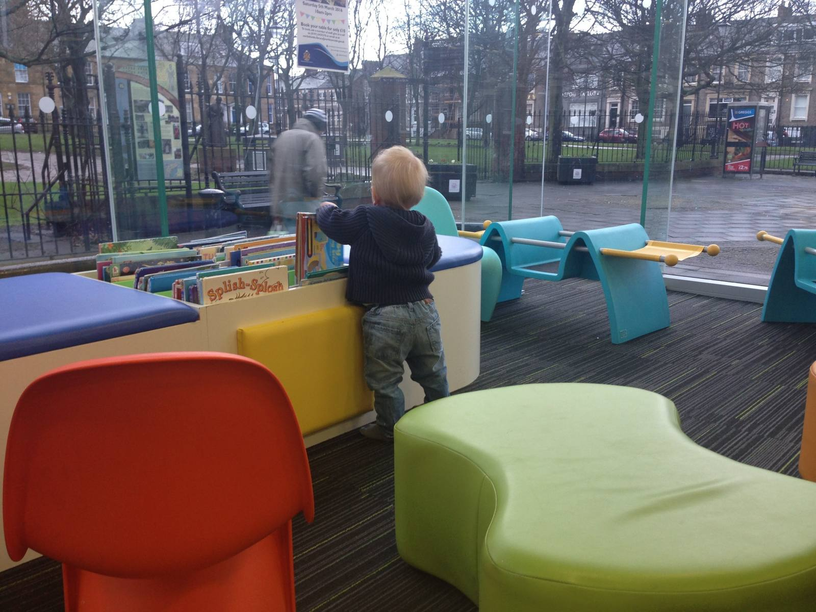 Libraries are great places to visit with your toddler. Not only are there lots of books but there are often free activities to take part in too