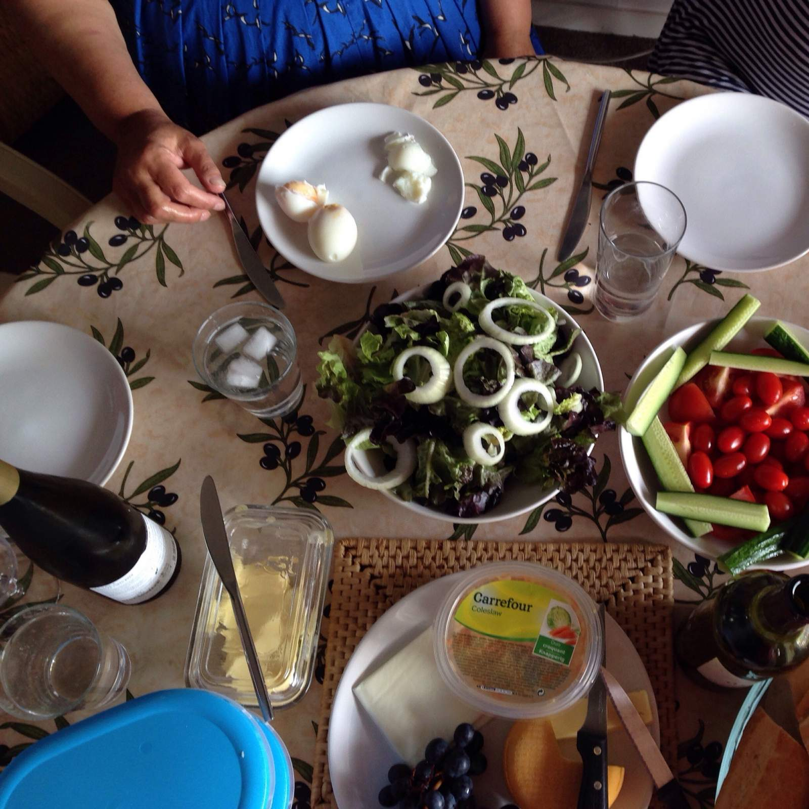 family table with food