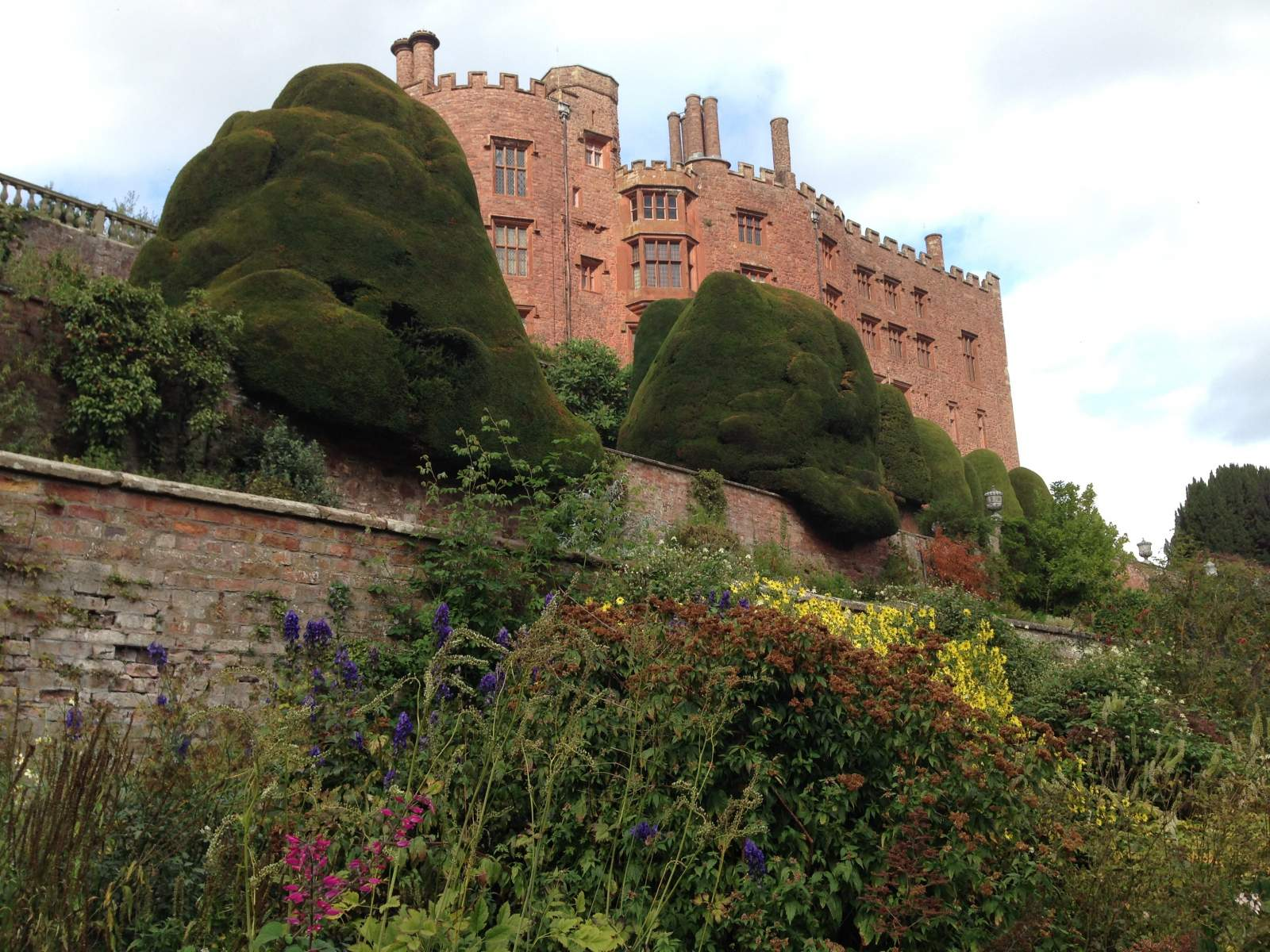 view of powis castle from garden