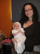 Baptising our eldest - 2009