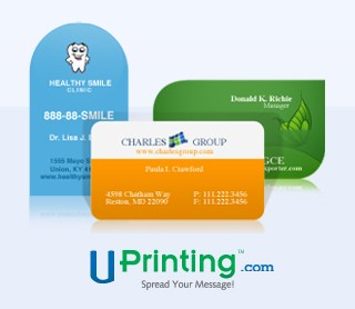 U-Printing Die-Cut Business Card Giveaway