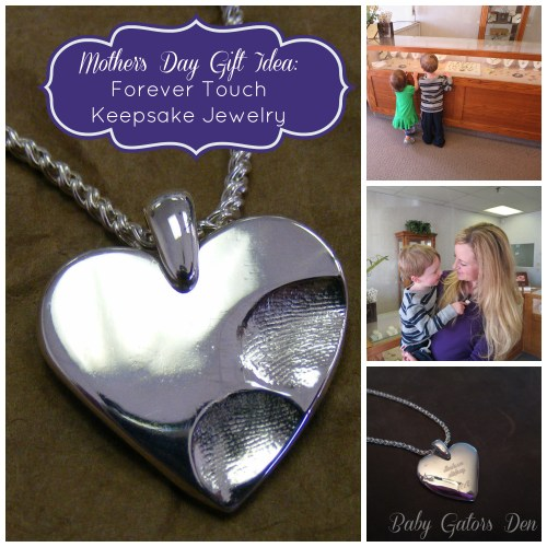 Mother's Day gift idea: custom jewelry with your children/grandchildren's fingerprints.