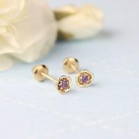 Kids Birthstone Earrings