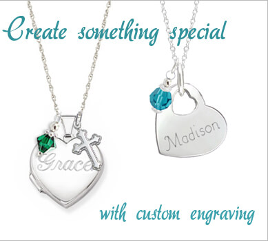 kids engraved necklaces personalized