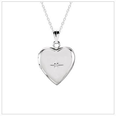 girls diamond locket necklace