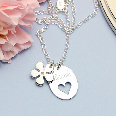 hearts in bloom engraved
