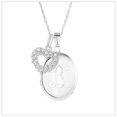 oval engraved locket necklace