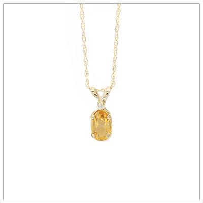 14kt Gold Birthstone Necklace November