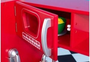 kidkraft red vintage kitchen 53173 tall storage cabinet retro