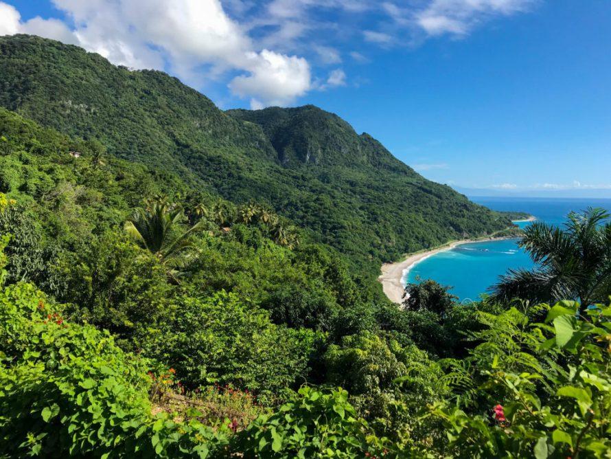 overlooking mountains and ocean in San Rafael, Dominican Republic