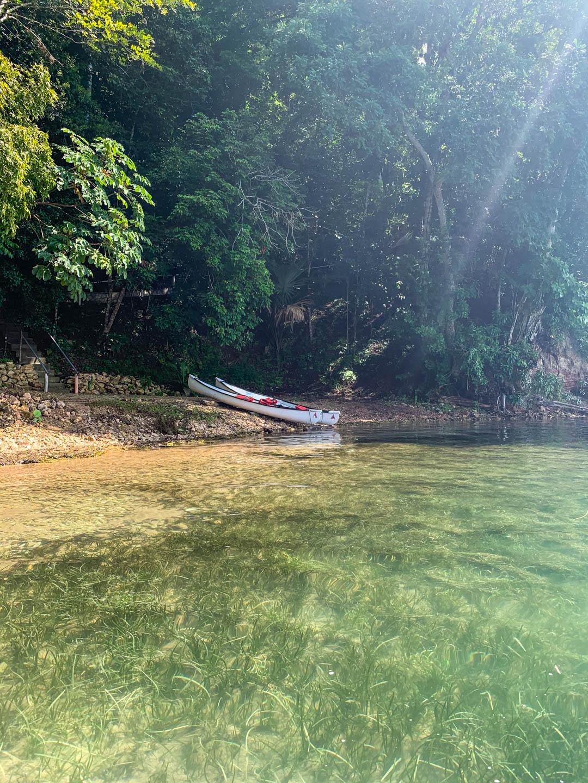 canoes on shore at La Lancha