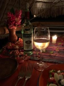 Coppola Pinot Grigio wine on table