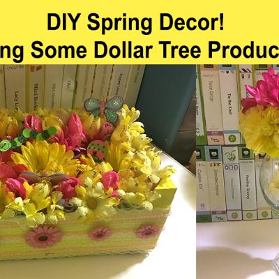 Fun Springy DIY Home Decor Tutorial on YouTube!