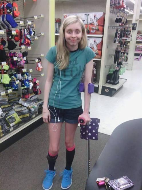 Michelle uses a walker sometimes