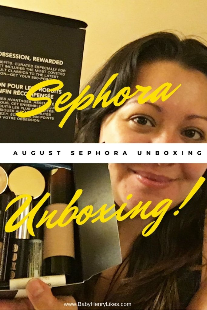 August Sephora Unboxing by Baby Henry Likes