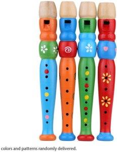 Flautas de madeira para iniciar a relação das crianças com a música