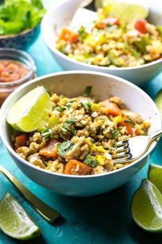 Meal Prep Fiesta Chicken Rice Bowls
