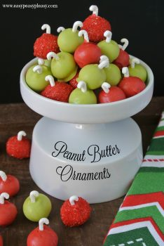 Easy 3 Ingredient Peanut Butter Ornaments are the perfect Christmas treat!